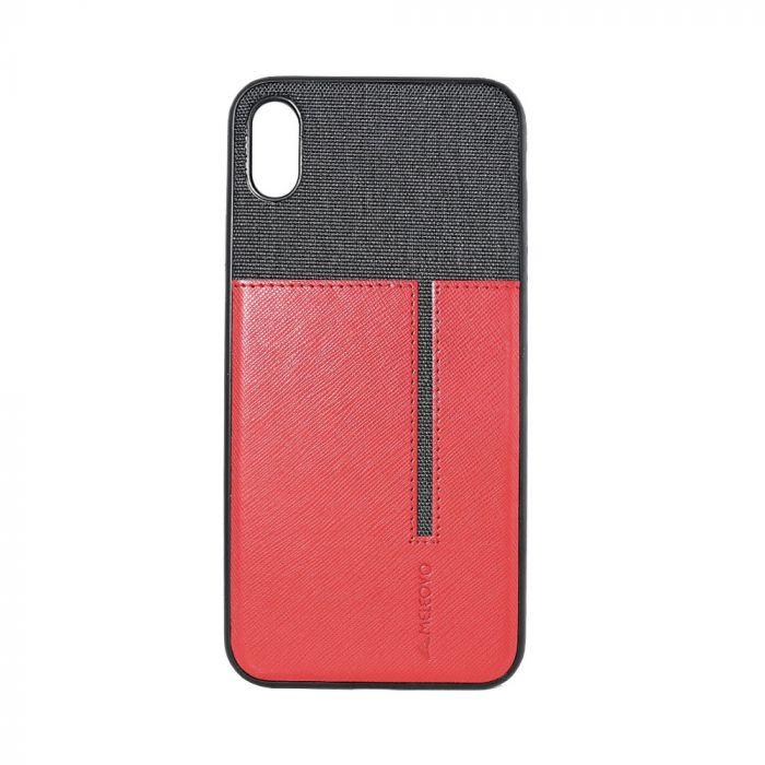 Carcasa iPhone XS Max Meleovo Cube Red - Black