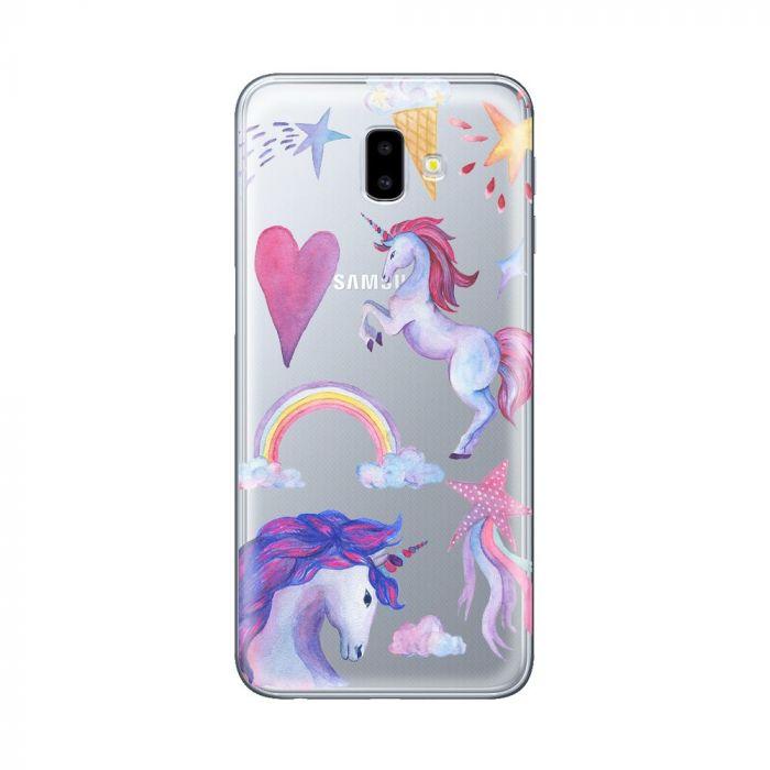 Husa Samsung Galaxy J6 Plus Lemontti Silicon Art Unicorn