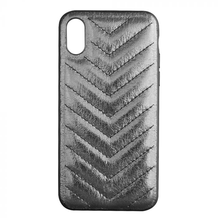 Carcasa iPhone XS / X Just Must Forla III Black (lucios, margini flexibile)