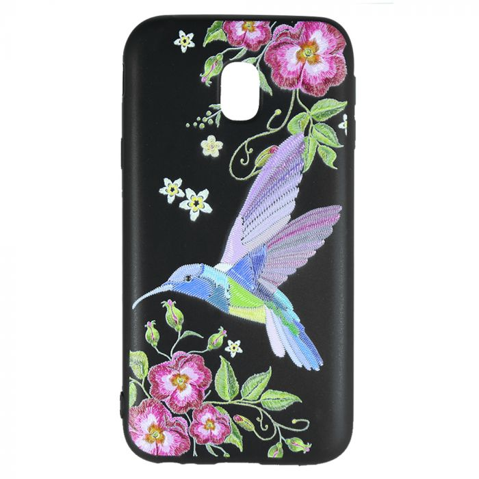 Husa Samsung Galaxy J5 (2017) Just Must Silicon Printed Embroidery Colibri