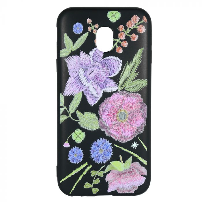 Husa Samsung Galaxy J5 (2017) Just Must Silicon Printed Embroidery Flowers