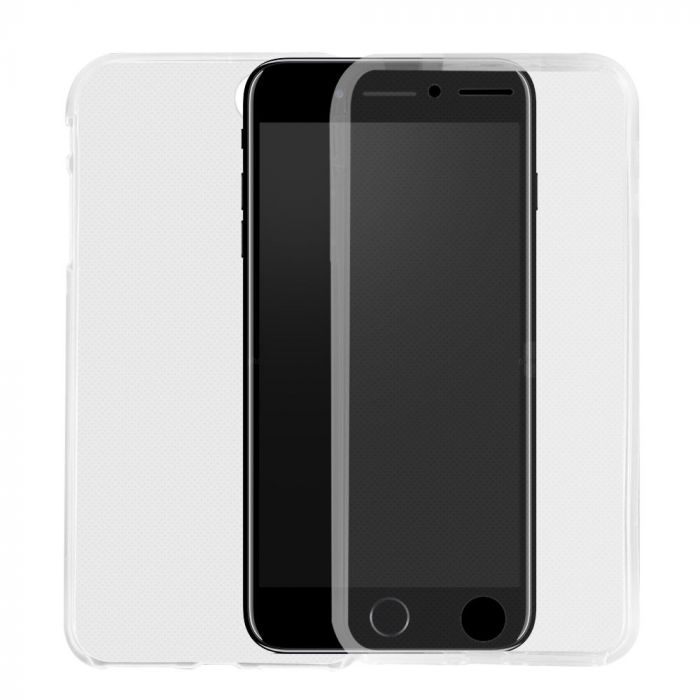 Husa iPhone 8 / 7 Lemontti Silicon Full Cover 360 Transparent