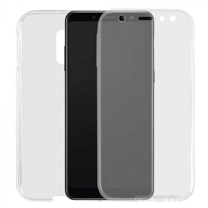 Husa Samsung Galaxy J6 Plus Lemontti Silicon Full Cover 360 Transparent