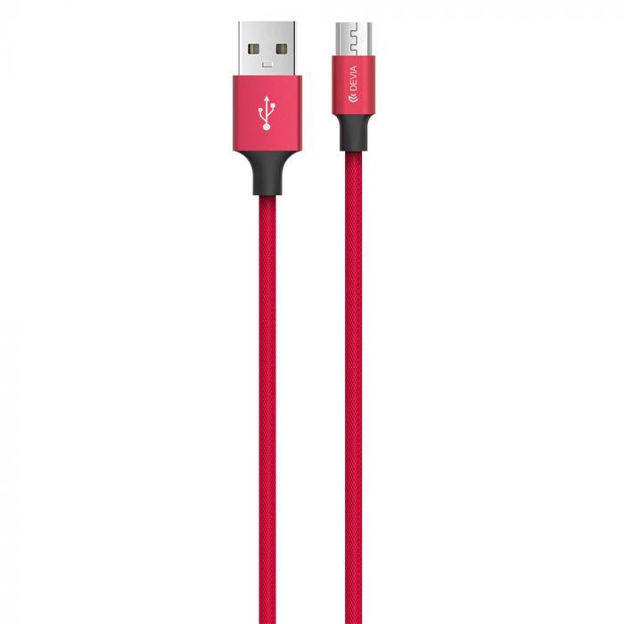 Cablu MicroUSB Devia Pheez Series Red