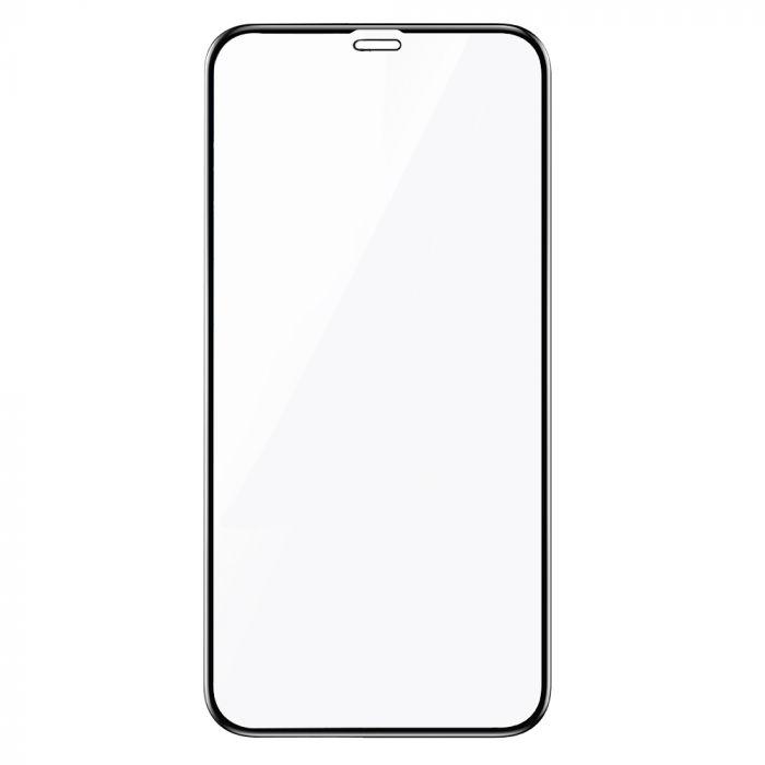 Folie iPhone XS Max Lemontti Sticla Full Fit Black (1 fata, 9H, 0.33mm)