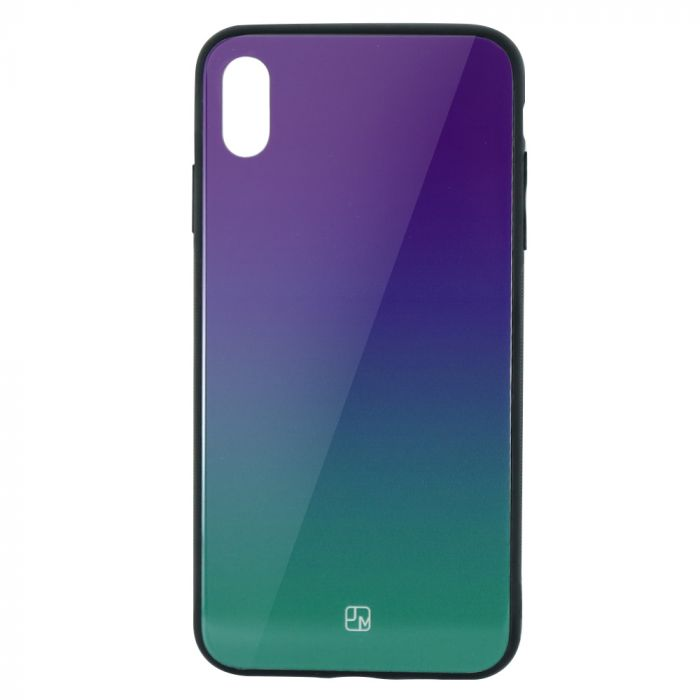 Carcasa Sticla iPhone XS Just Must Glass Gradient Purple-Green