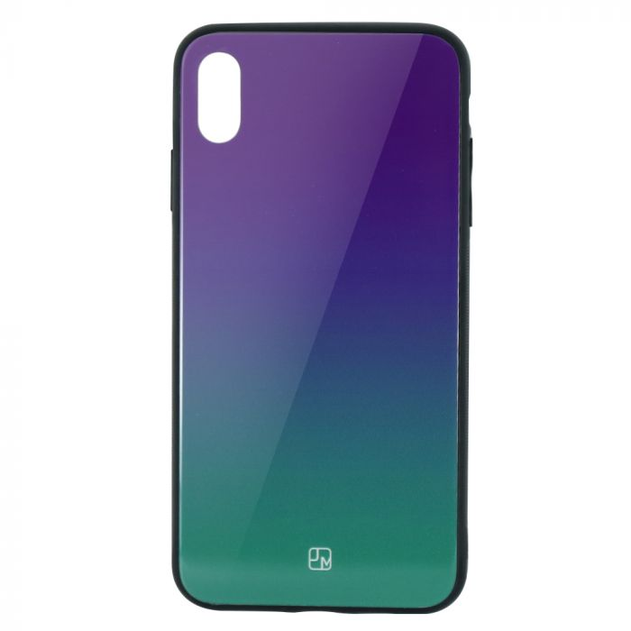 Carcasa Sticla iPhone XS Max Just Must Glass Gradient Purple-Green