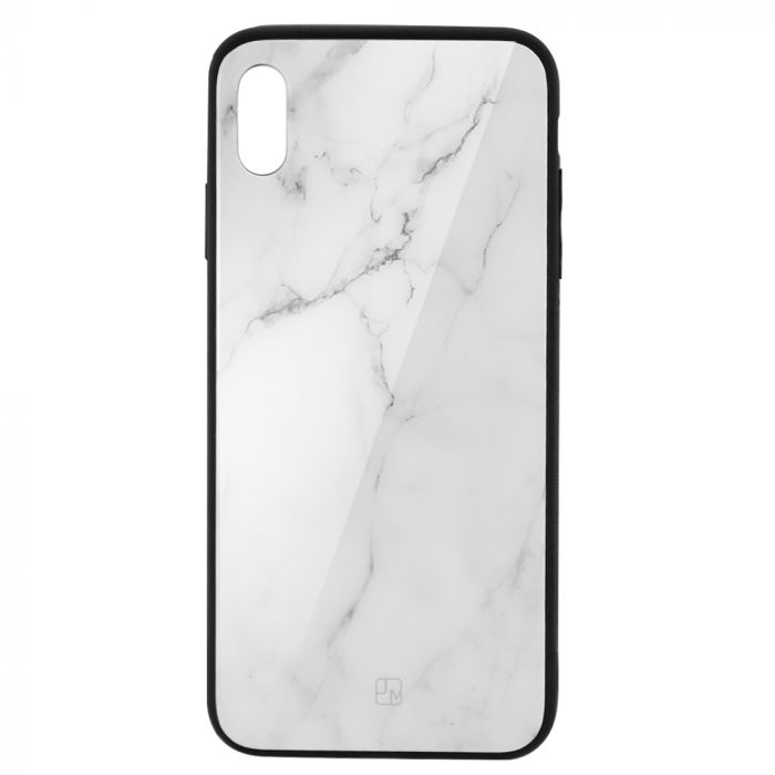 Carcasa Sticla iPhone XS Max Just Must Glass Print White Marble