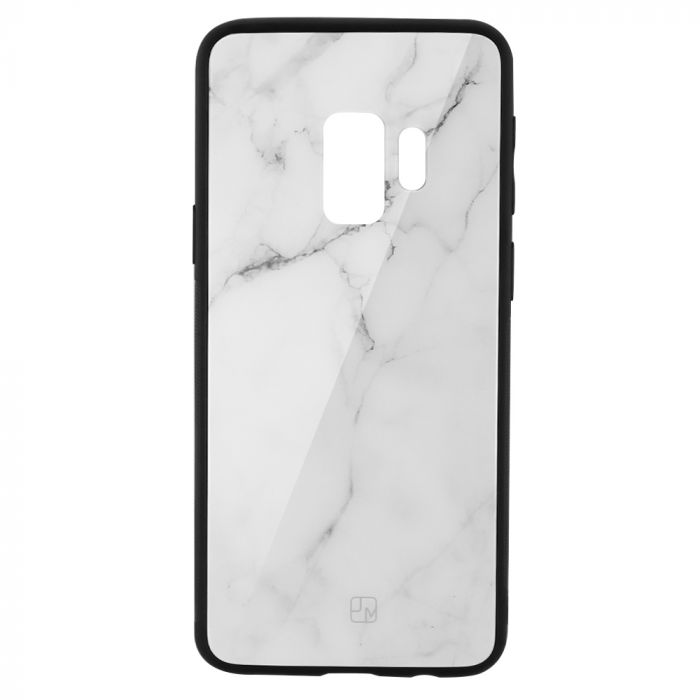 Carcasa Sticla Samsung Galaxy S9 G960 Just Must Glass Print White Marble