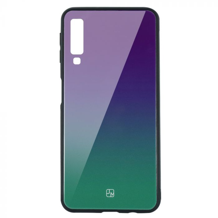 Carcasa Sticla Samsung Galaxy A7 (2018) Just Must Glass Gradient Purple-Green