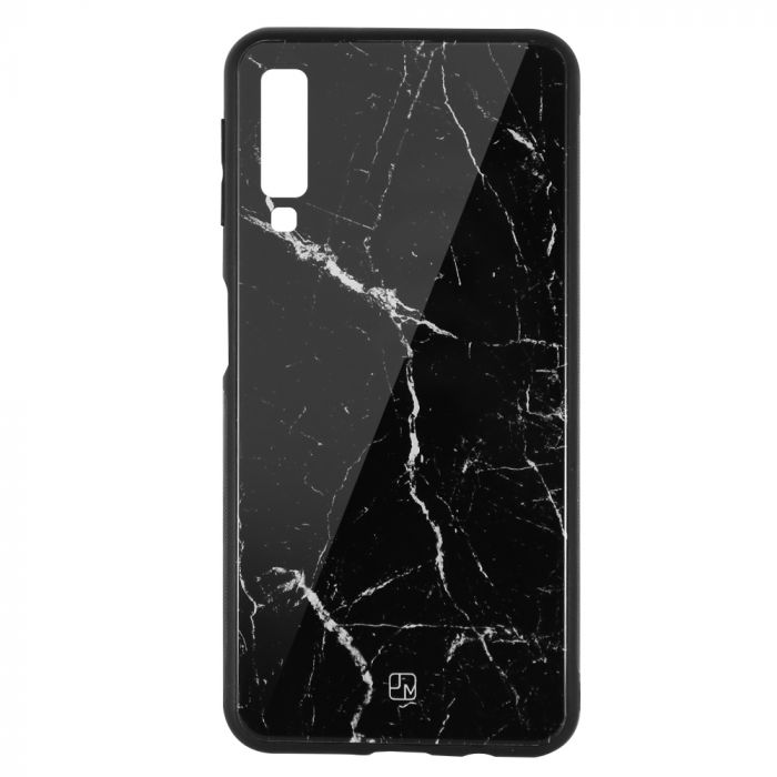 Carcasa Sticla Samsung Galaxy A7 (2018) Just Must Glass Print Black Marble