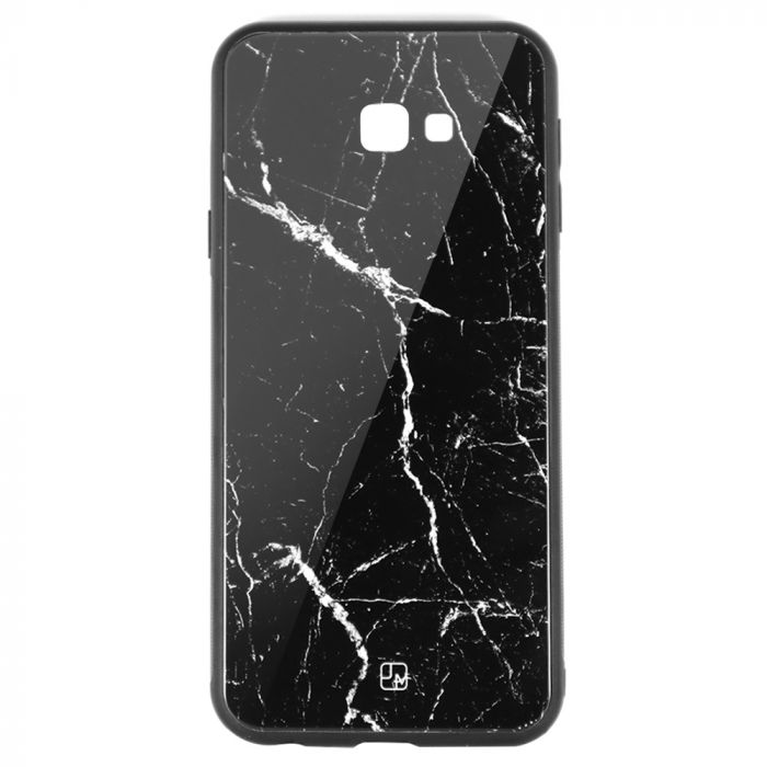 Carcasa Sticla Samsung Galaxy J4 Plus Just Must Glass Print Black Marble