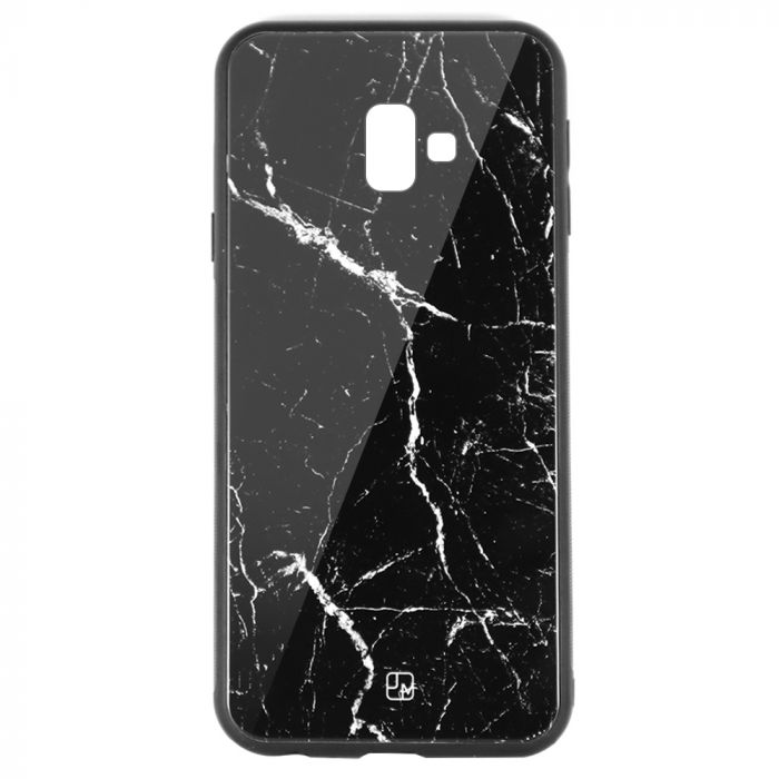 Carcasa Sticla Samsung Galaxy J6 Plus Just Must Glass Print Black Marble
