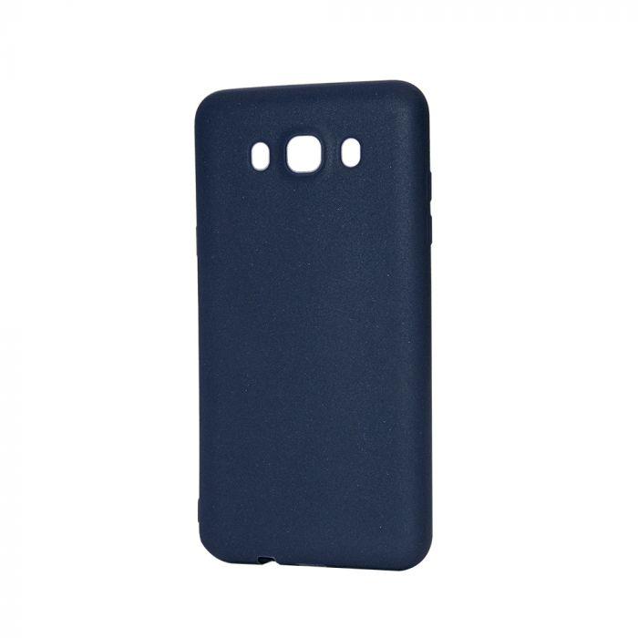Husa Samsung Galaxy J7 (2016) Lemontti Silicon Silky Albastru Inchis