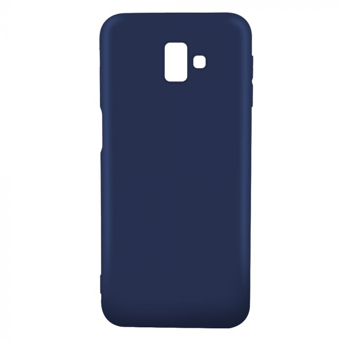 Husa Samsung Galaxy J6 Plus Lemontti Silicon Silky Albastru Inchis