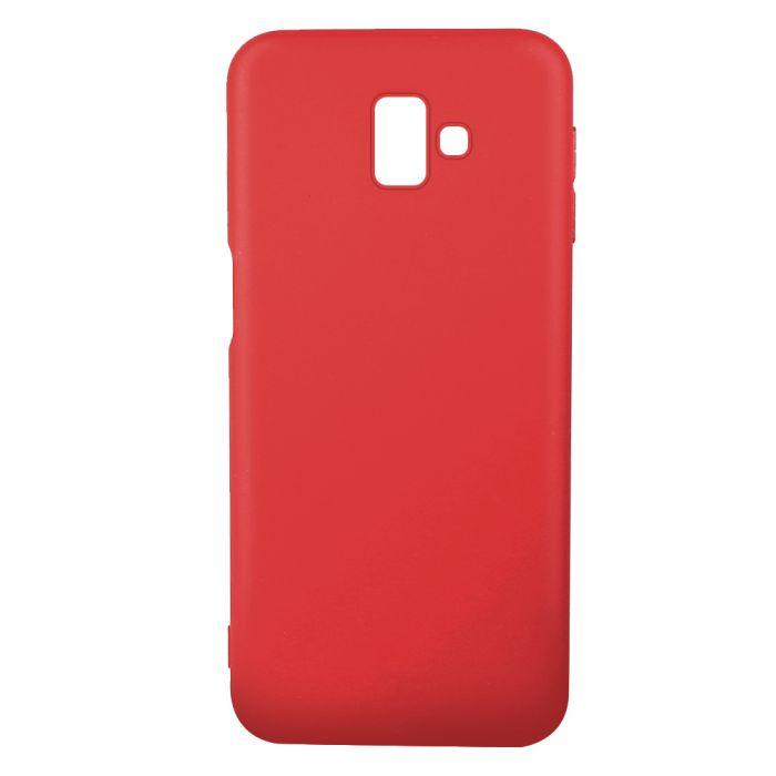 Husa Samsung Galaxy J6 Plus Lemontti Silicon Silky Rosu