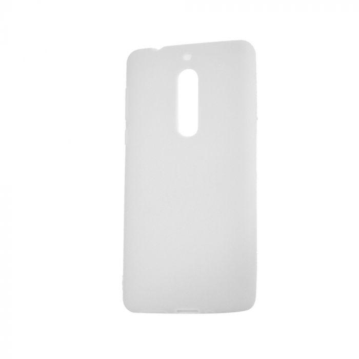 Husa Nokia 5 Lemontti Silicon Silky Semitransparent Alb