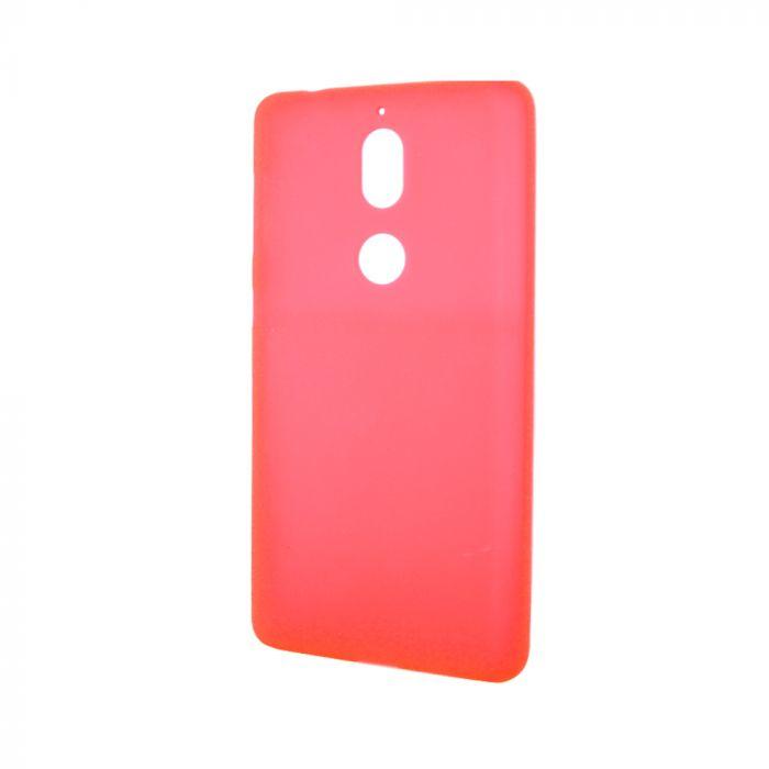 Husa Nokia 7 Lemontti Silicon Silky Semitransparent Rosu