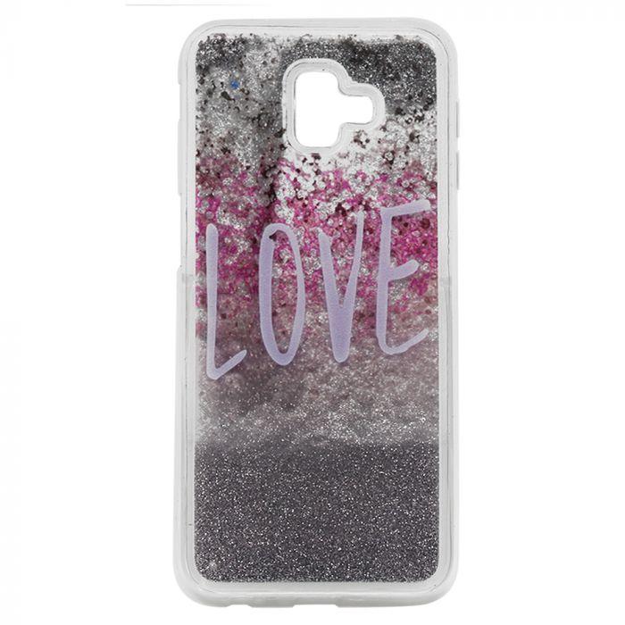Carcasa Samsung Galaxy J6 Plus Lemontti Liquid Sand Love