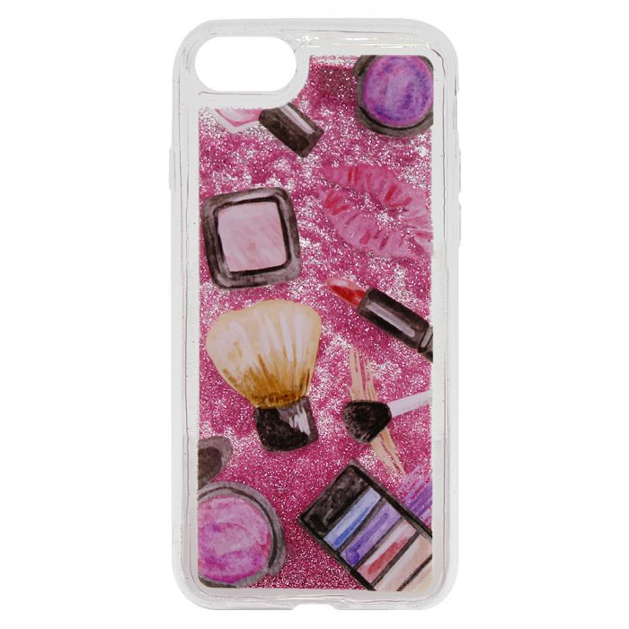 Carcasa iPhone SE 2020 / 8 / 7 Lemontti Liquid Sand Makeup Glitter