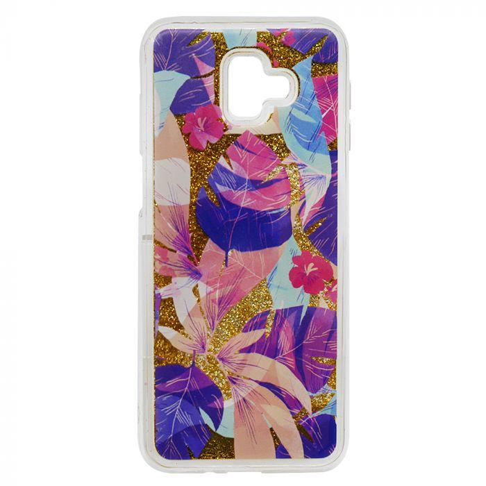Carcasa Samsung Galaxy J6 Plus Lemontti Liquid Sand Floral Sunset