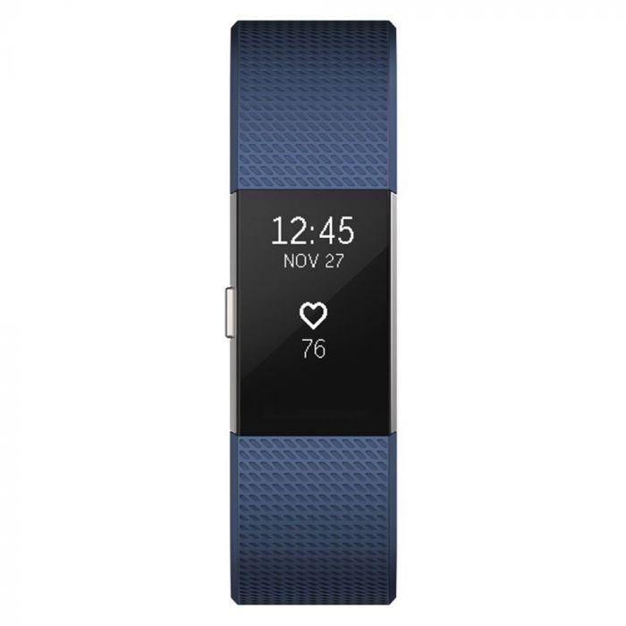 Fitbit Bratara Fitness Charge 2 Blue Silver Marimea L