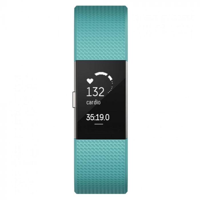 Fitbit Bratara Fitness Charge 2 Teal Silver Marimea S