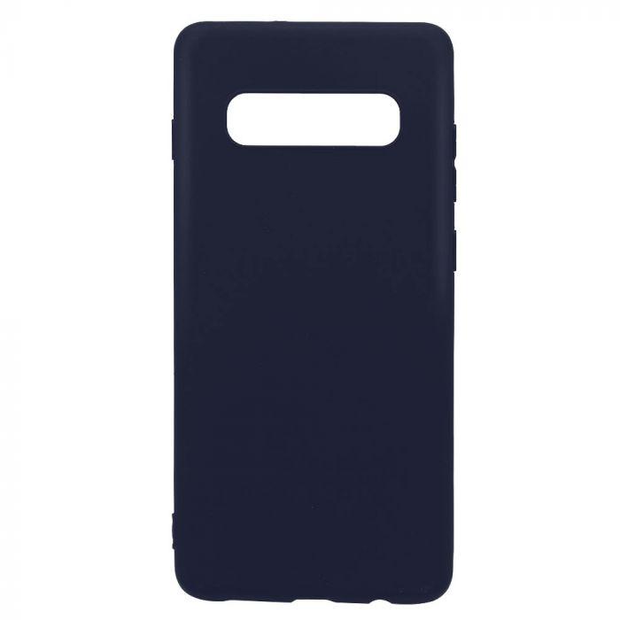Husa Samsung Galaxy S10 Plus G975 Lemontti Silicon Silky Albastru Inchis