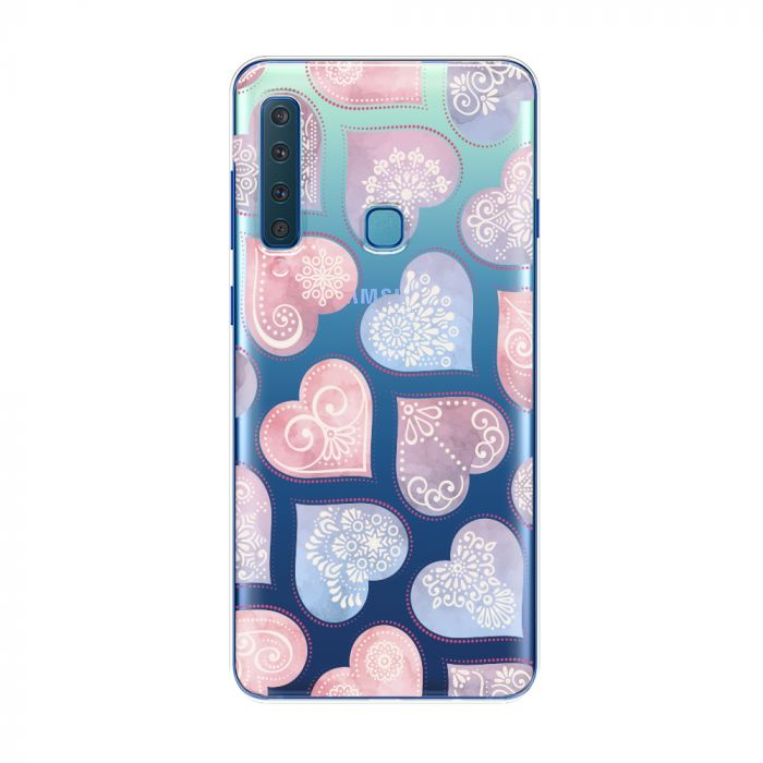 Husa Samsung Galaxy A9 (2018) Lemontti Silicon Art Hearts