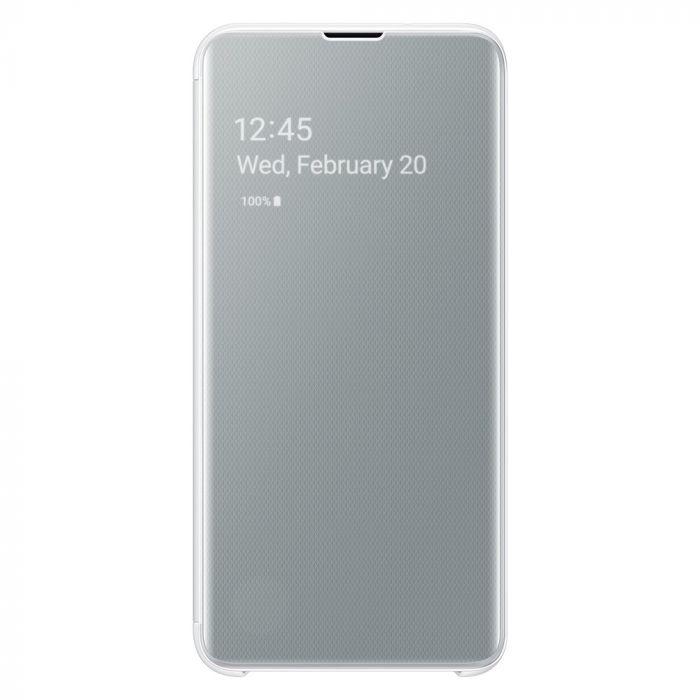 Husa Samsung Galaxy S10e G970 Book Clear View White