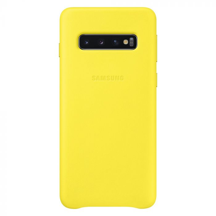 Carcasa Original Samsung Galaxy S10 G973 Samsung Leather Cover Yellow
