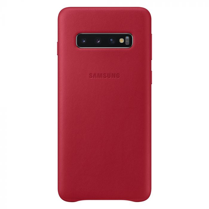 Carcasa Original Samsung Galaxy S10 G973 Samsung Leather Cover Red