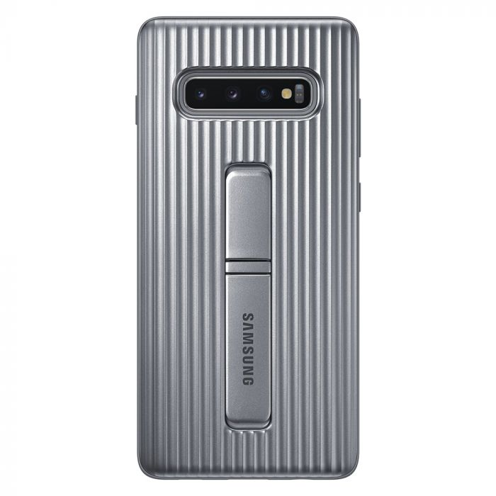 Carcasa Samsung Galaxy S10 Plus G975 Protective Standing Silver