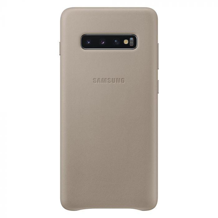 Carcasa Samsung Galaxy S10 Plus G975 Samsung Leather Cover Gray