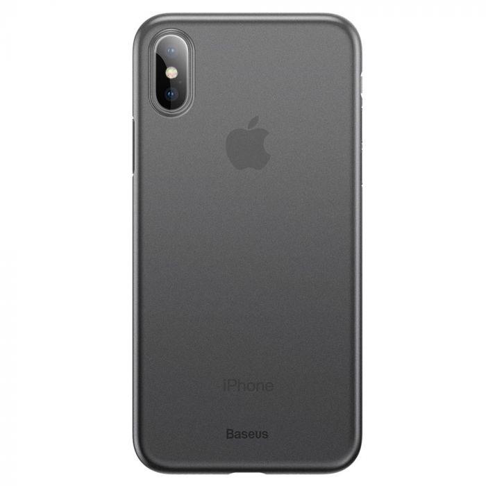 Carcasa iPhone XS Baseus Wing Transparent Black