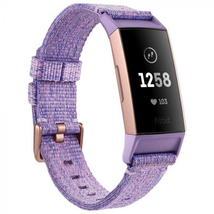Fitbit Bratara Fitness Charge 3 Special Edition (NFC) Lavender Woven