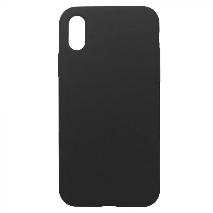 Carcasa iPhone XS Max Just Must Defense Liquid Silicone Black