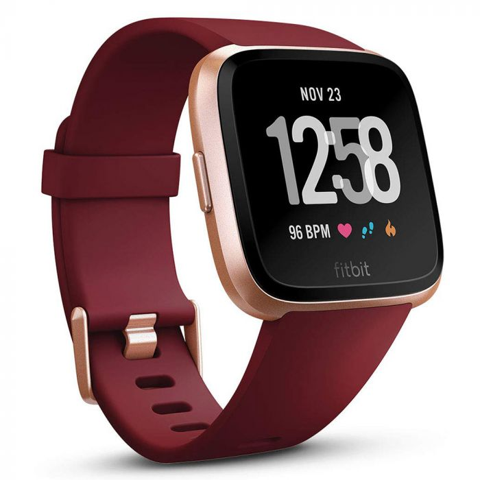 Smartwatch Fitbit Versa (NFC) Merlot Band / Rose Gold Case Aluminum