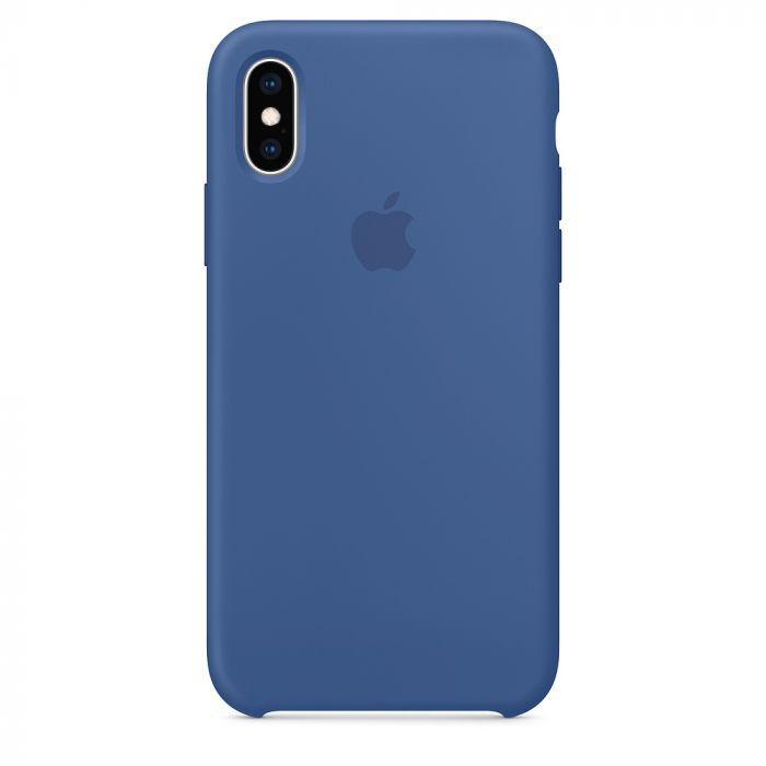 Husa iPhone XS Apple Silicon Delft Blue