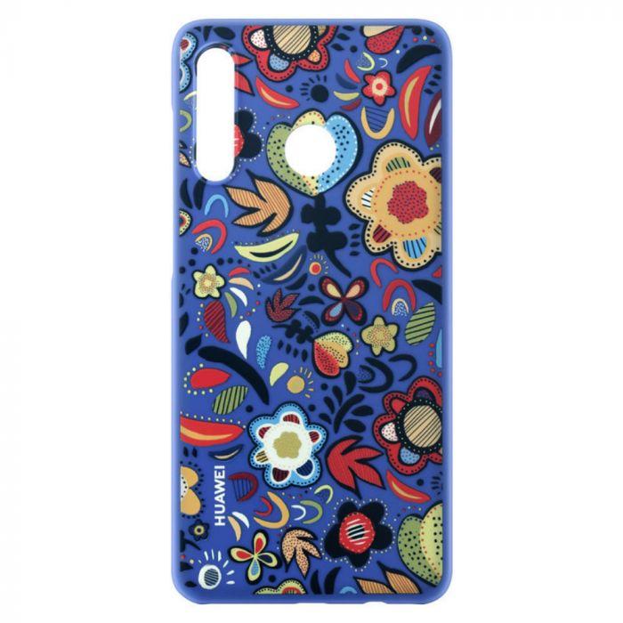 Carcasa Huawei P30 Lite Huawei PC Case Flower Blue