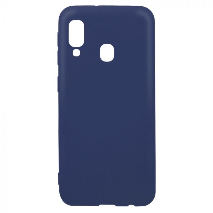 Husa Samsung Galaxy A20e Lemontti Silicon Silky Albastru Inchis