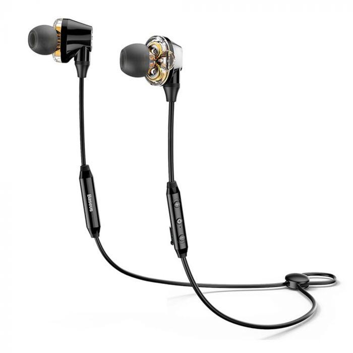 Casti Bluetooth Baseus Encok S10 Dual Dynamic Black