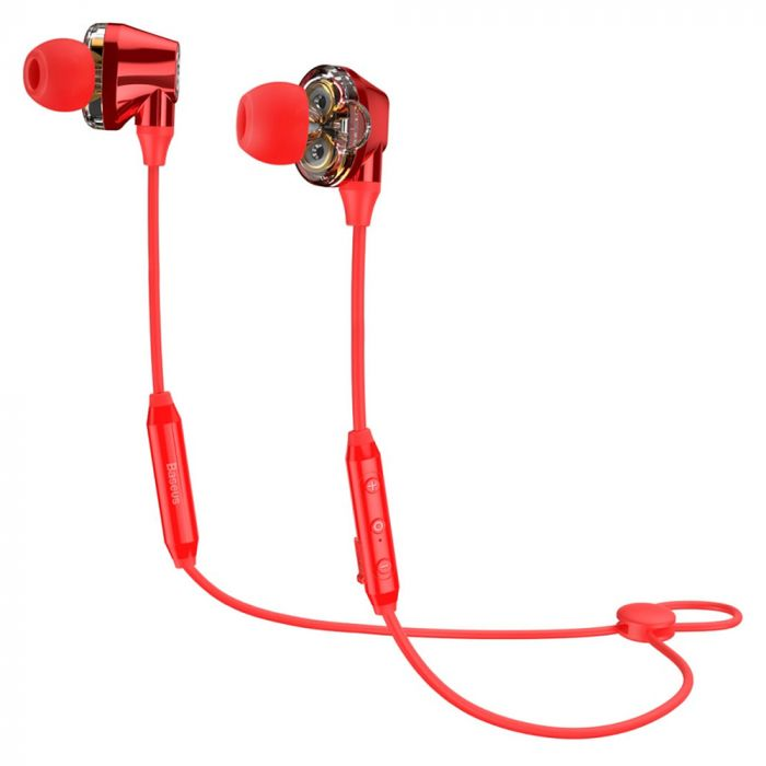Casti Bluetooth Baseus Encok S10 Dual Dynamic Red