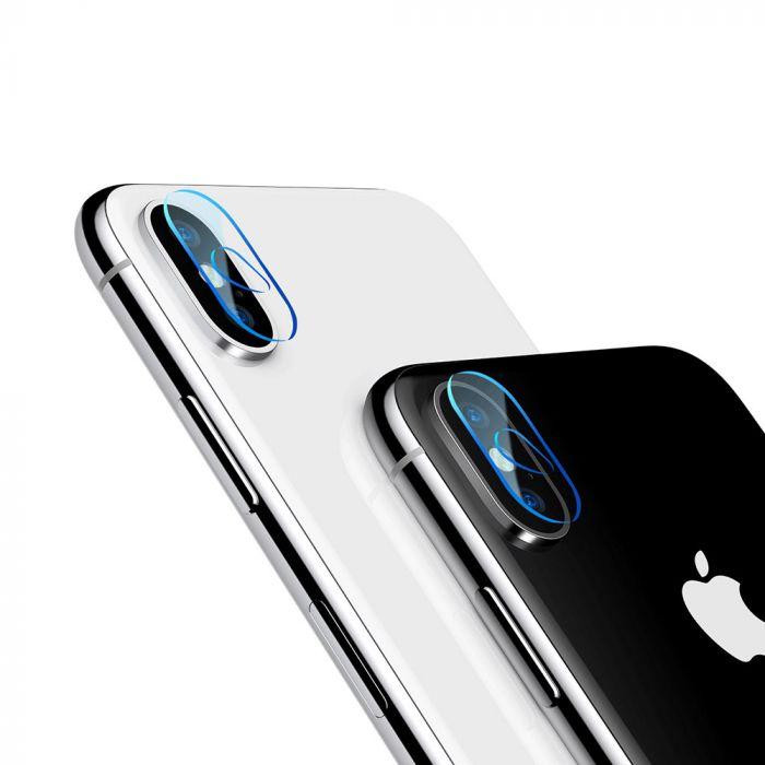 Folie iPhone X / XS / XS Max Baseus Sticla Camera Lens Transparent