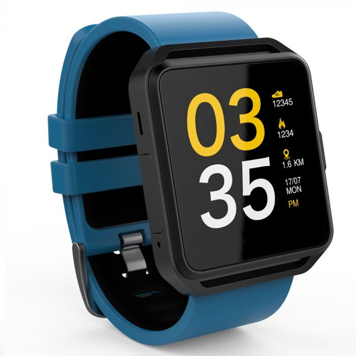 Maxcom Smartwatch FitGo FW15 Square Albastru (Bluetooth 4.0)