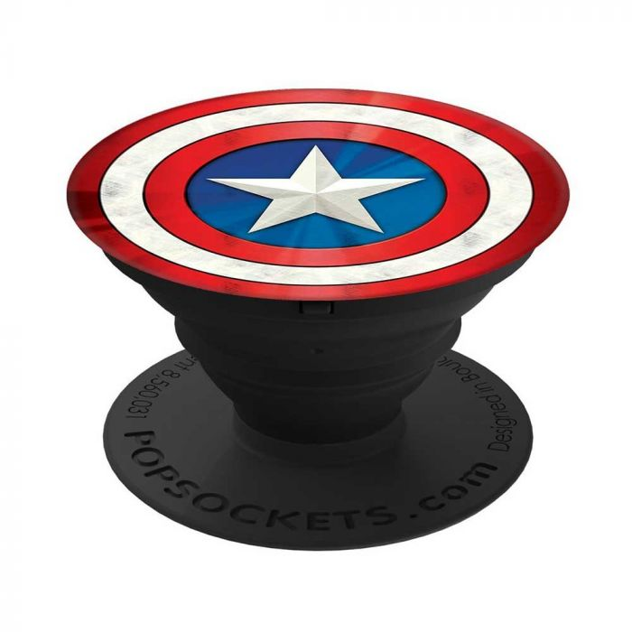 Suport Popsockets Stand Adeziv Captain America Shield Icon