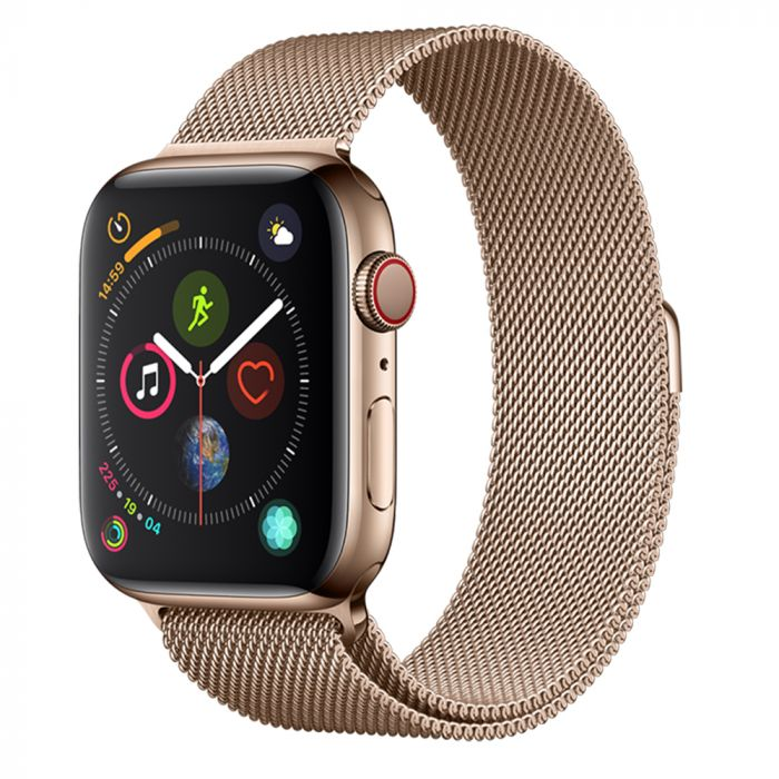 Curea Apple Watch 4 42mm / 44mm Devia Elegant Series Milanese Loop Rose Gold