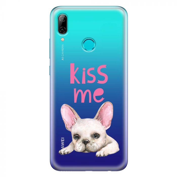 Husa Huawei P Smart (2019) Lemontti Silicon Art Pug Kiss