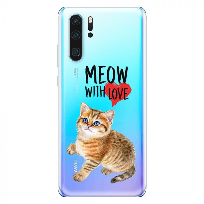 Husa Huawei P30 Lemontti Silicon Art Meow With Love