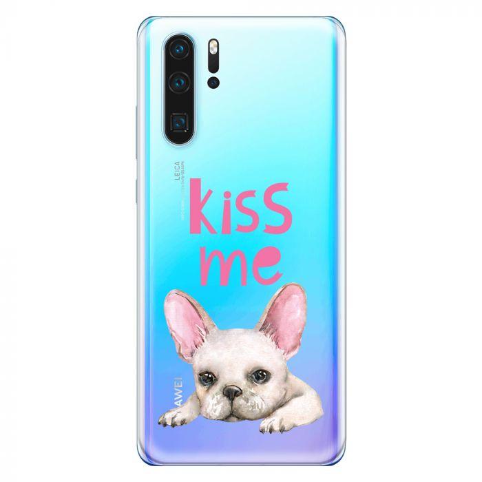 Husa Huawei P30 Lemontti Silicon Art Pug Kiss